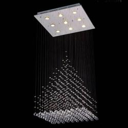 Modern Crystal 9-Light Chandelier