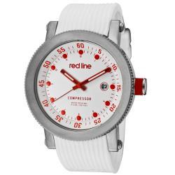 Red Line Men's 'Compressor' White Textured Silicon Watch