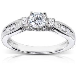 14k White Gold 5/8ct TDW Diamond Engagement Ring (H-I, I1-I2)