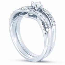 14k White Gold 1/2ct TDW Diamond Bridal Ring Set (H-I, I1-I2)