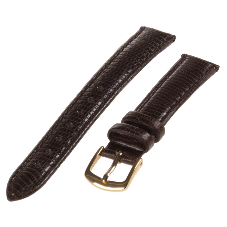 Republic Women's Brown Lizard Grain Leather Watch Strap