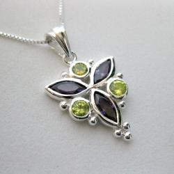 Sterling Silver Cubic Zirconia Necklace (Thailand)
