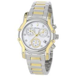 Bulova Women's 'Wintermoor' Two-Tone Diamond Chronograph Watch