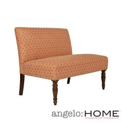 angelo:HOME Bradstreet Art Deco Tile Terracotta Upholstered Armless Settee