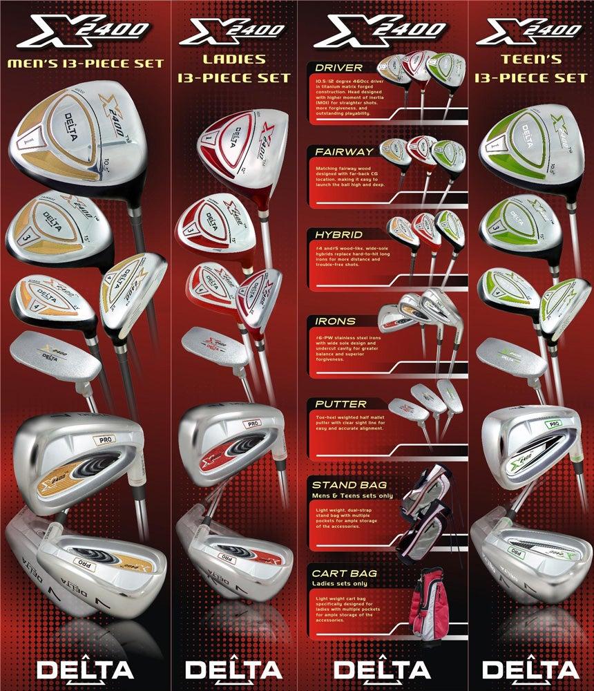 Delta Golf X-2400 Complete Teen Package Golf Set