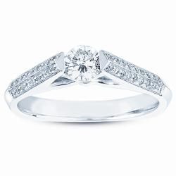 14k White Gold 1/2ct TDW Diamond Engagement Ring (H-I, I1)