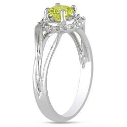 Miadora 14k Gold 5/8ct TDW Yellow and White Diamond Ring (G-H, I1-I2)