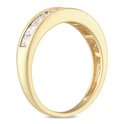 Miadora 14k Yellow Gold 1ct TDW Diamond Anniversary Ring (G-H, I1)