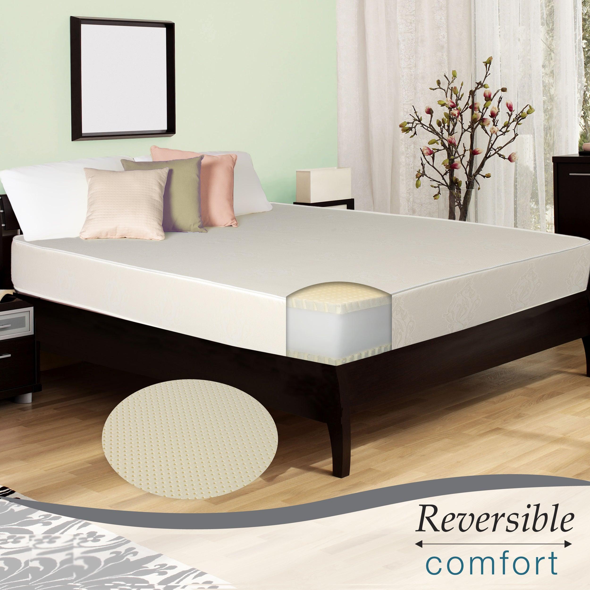 Select Luxury Reversible E.C.O. Latex Foam Medium Firm 10-inch King-size Mattress