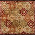 Hand-tufted Red Alum Wool Rug (6' Square)