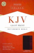 Holy Bible: King James Version Giant Print Reference Bible, Black/burgundy, LeatherTouch (Paperback)