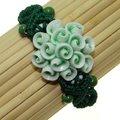 Handmade Ceramic Green Flower Bracelet (China)