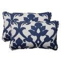 Pillow Perfect Navy Outdoor Throw Pillows (Set of 2)