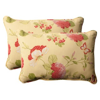 Pillow Perfect 'Risa' Lemonade Corded Indoor/Outdoor Polyester Throw Pillows (Set of 2)