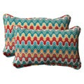 Pillow Perfect Outdoor Blue Nivala Corded Rectangular Throw Pillows (Set of 2)