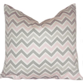 Taylor Marie Bella Pink/ Grey Zig Zag Pillow Cover