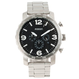 Fossil Men's 'Nate' Stainless Steel Chronograph Watch