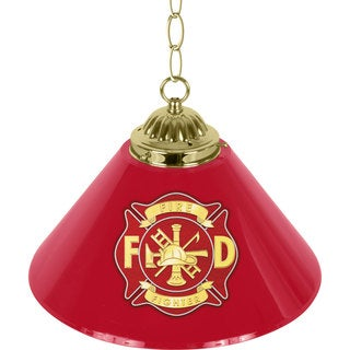 Fire Fighter 14-inch Single Shade Bar Lamp