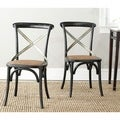Safavieh Eleanor Black X-Back Side Chairs (Set of 2)