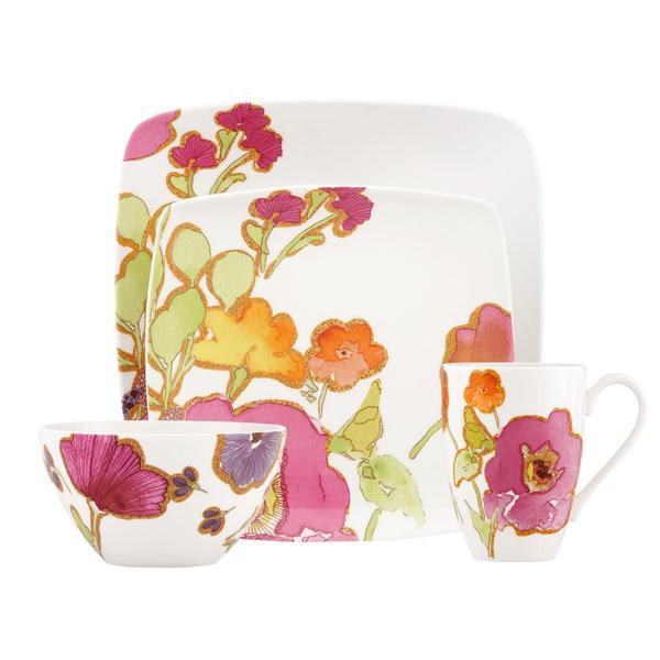 Lenox Floral Fusion Square 4-Piece Place Setting