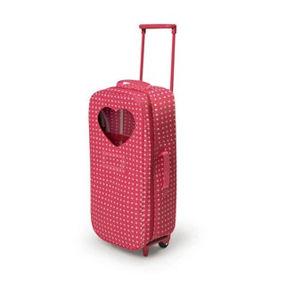 Star Pattern Trolley Doll Travel Case with Rocking Bed and Bedding