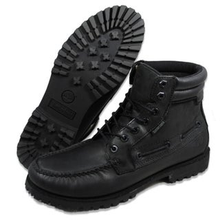 Timberland Men's '7 Eye' Moc Toe Black Boots