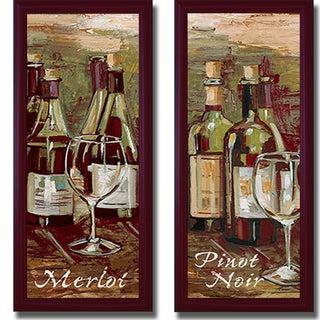 Heather French-Roussia 'Merlot and Pinot Noir' Framed 2-piece Canvas Art Set