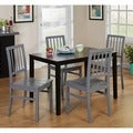 Black and Grey 'Camden' 5-piece Contemporary Dining Set