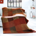 Bocasa Red Check Woven Throw Blanket