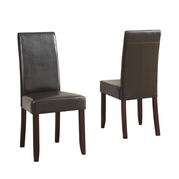 Faux Leather Brown Counter Stool Set Of 2 Dining Room Bar: WYNDENHALL Normandy Parson Chairs (Set Of 2)