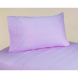 Sweet JoJo Designs 200 Thread Count Mod Dots Bedding Collection Purple Cotton Sheet Set