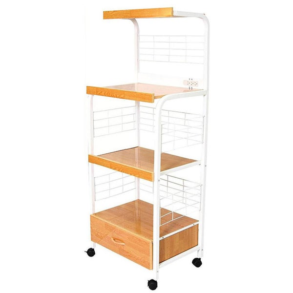 White 3-tier Microwave Cart