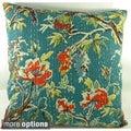 Ethnic Kantha Stitch Tropical Birds Cushion Cover (India)