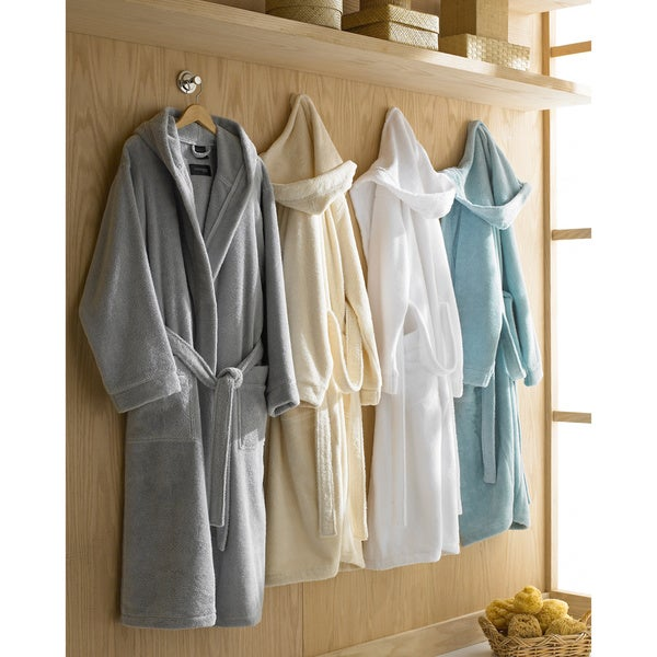 Hooded Turkish Cotton Plush Bath Robe