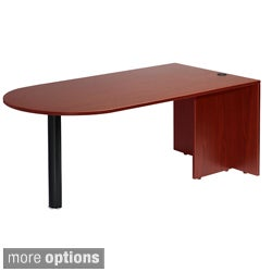 Boss Cherry or Mahogany Finished Bullet Desk