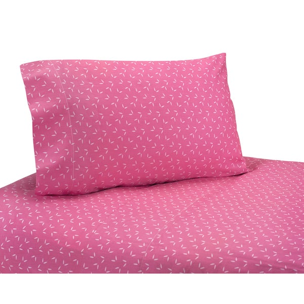 Sweet JoJo Designs 200 Thread Count Pink Happy Owl Bedding Collection Sheet Set