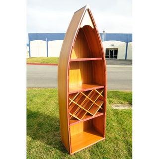 Old Modern Handicrafts Canoe Wine Shelf