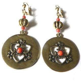 'Carmen' Medallion Dangle Earrings