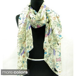 Graffiti Prints Spring/ Summer Fashion Scarf
