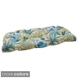 Pillow Perfect 'Splish Splash' Outdoor Wicker Loveseat Cushion