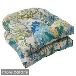 Pillow Perfect 'Splish Splash' Outdoor Wicker Seat Cushions (Set of 2)