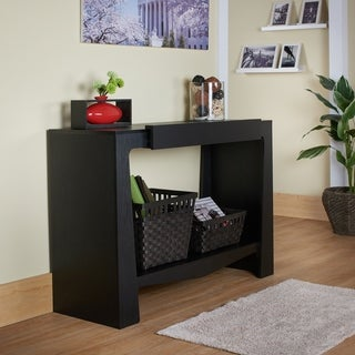 Urbana Black Modern Hall-Entry Way Console Table