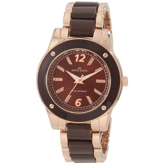 Anne Klein Women's Two-tone Brown Dial Watch