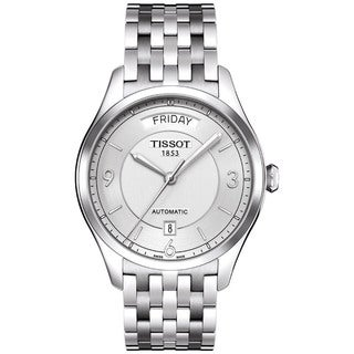 Tissot Men's Stainless Steel Silver Dial Automatic Watch