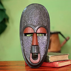 Handcrafted Sese Wood 'Detecter of Evil' African Mask (Ghana)