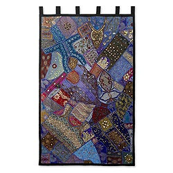 Handcrafted Cotton 'Mystical Gujarat' Applique Wall Hanging (India)