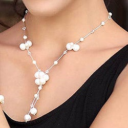 Cultured Pearl Bracelet 'Oh Belle' Quartz Bracelet (4-8 mm) (Thailand)