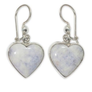 Sterling Silver 'Lilac Love Immemorial' Jade Earrings (Guatemala)