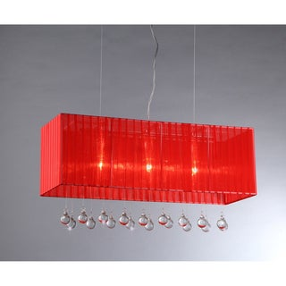 Fates Wine Red Fabric Chandelier