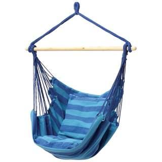Club Fun Blue Hanging Hammock Rope Chair